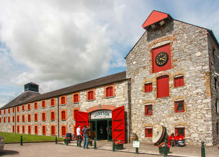 millstone: CORK IRELAND  JUNE 20 2008:  The Jameson Heritage Centre  in Midleton Co. Cork 12 miles east of Cork City on the main Cork Waterford Road. Old Midleton Distillery is museum of Irish whiskey.