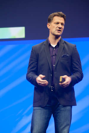 steve: BARCELONA, SPAIN  NOVEMBER 10, 2015: Global President SAP Platform Solutions Steve Lucas delivers an address to SAP TechEd 2015 conference on November 10, 2015 in Barcelona, Spain Editorial