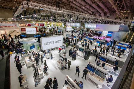 Hanower, Niemcy - 15 marca 2016: Hall 2 na targach CeBIT technologii informacyjnych targach w Hanowerze w Niemczech w dniu 15 marca 2016 r.
