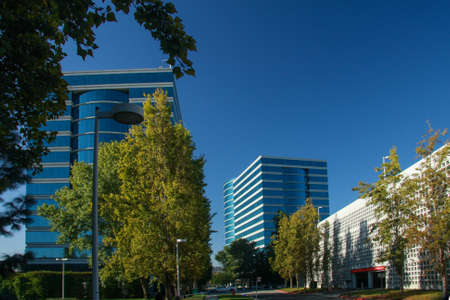 silicio: REDWOOD CITY, CA, USA - SEPT 24, 2008: The Oracle Headquarters located in Redwood City, CA, USA on Sept 24, 2008. Oracle is a multinational hardware and software technology corporation