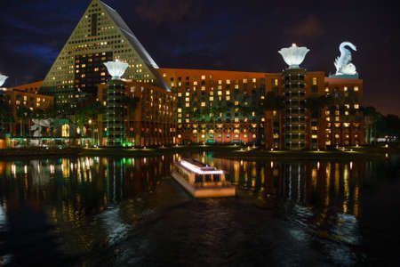 ORLANDO, FLORIDA – JANUARY 19, 2009: Swan and Dolphin hotel welcomes 8000 attendees of IBM Lotusphere conference on January 19, 2009 Editorial