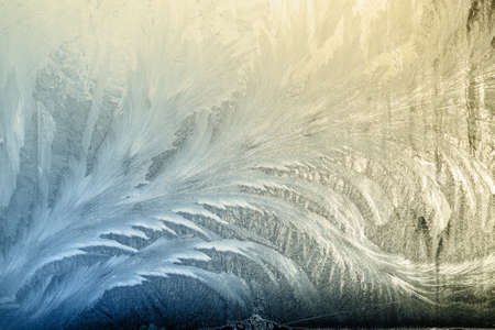 Winter frostwork on window glass useful as texture backgroud
