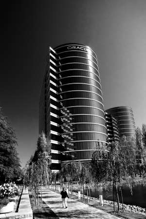 REDWOOD CITY, CA, USA - SEPT 24, 2008: The Oracle Headquarters located in Redwood City, CA, USA on Sept 24, 2008. Oracle is a multinational hardware and software technology corporation.