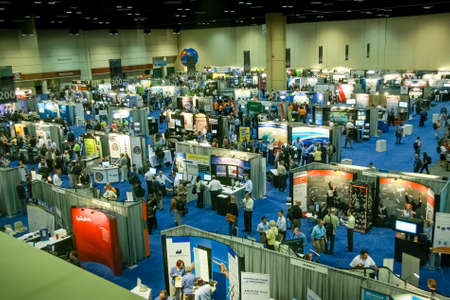 ORLANDO, FLORIDA, USA -  March 11, 2008:  Top view to exhibition hall in Orange County Convention Centre West at Microsoft Convergence conference on March 11, 2008 in Orlando, Florida, USA.