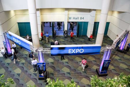 ORLANDO, FLORIDA, USA -  March 11, 2008:  Expo exhibition hall entrance in Orange County Convention Centre West at Microsoft Convergence conference on March 11, 2008 in Orlando, Florida, USA.