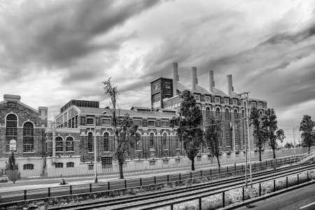 Retro style classic brick industrial building