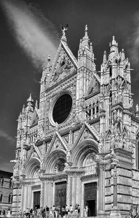 Cathedral of Siena facade over sky