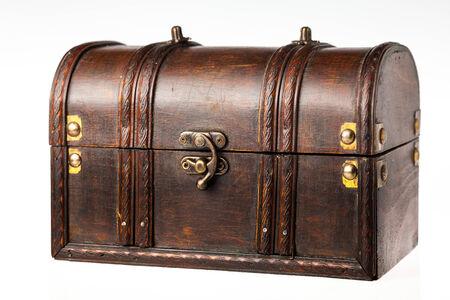 mass storage: Wooden box on white background