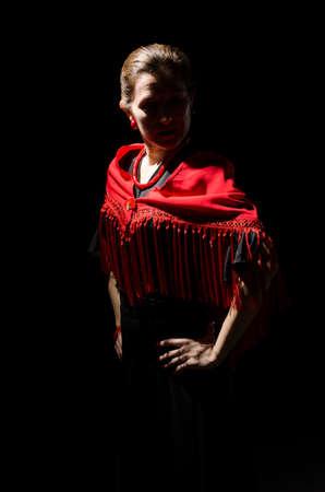 Dramatic portrait of a flamenco dancer Stock Photo