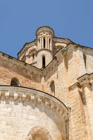 Low-angle shot of the collegiate church of Santa Mar?a La Mayor, Toro, Zamora, Spain. It is a temple of Catholic worship
