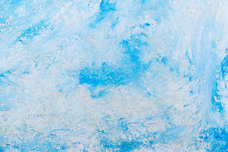 Abstract grunge rough uneven decorative background. Background of blue and white art texture tones with copy space. Фото со стока