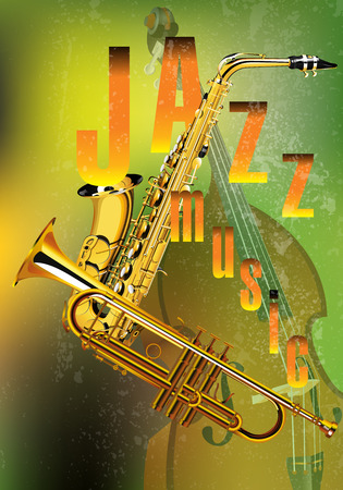 fanfare: vector illustration of a jazz background music