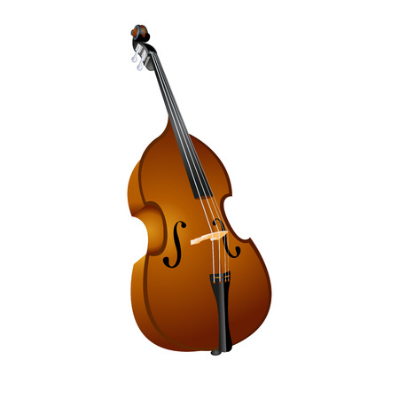 contrabass:  illustration of a stringed musical instrument contrabass