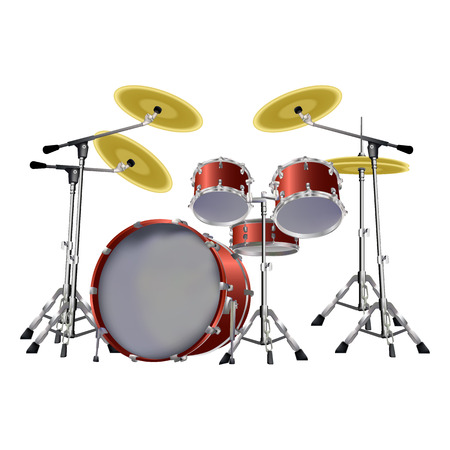 cymbals: illustration of a musical instrument drum set