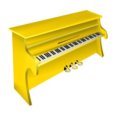 pianoforte: vector illustration of a musical instrument yellow piano Illustration