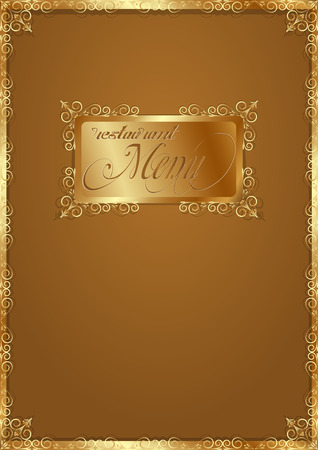 vector illustration template for the cover menu in vintage style Vector