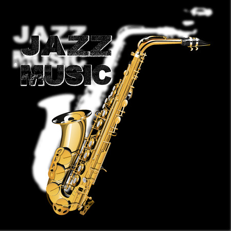 fanfare: stock vector - jazz music on a black and white background Illustration