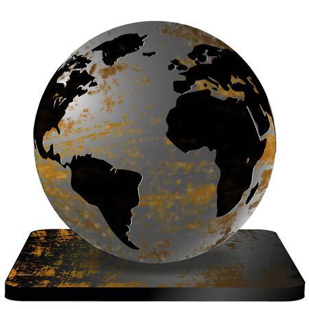 magnesia: vector illustration Iron Earth Illustration