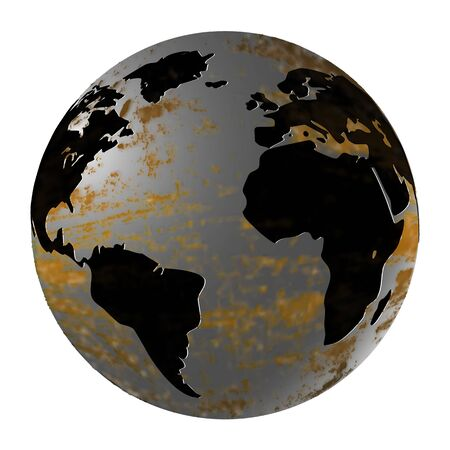 magnesia: vector illustration Iron Planet Earth isolated object