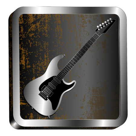 steel icon: vector illustration steel icon guitar engraving