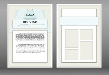 pamphlet: Leaflet, pamphlet, booklet style design material. Presented two versions side to A4 size. Illustration