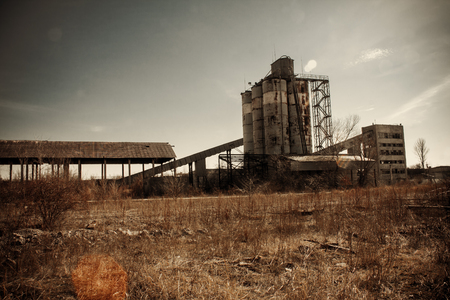 Ukraine, Odessa, the ruins of a cement plant to the unfinished nuclear power plant.
