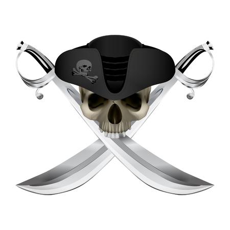 Pirate symbol Jolly Roger Ilustrace