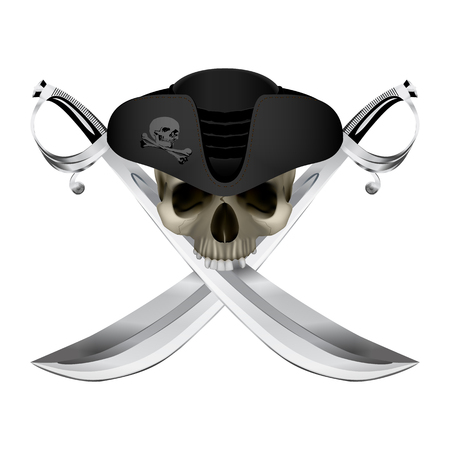 Pirate symbol Jolly Roger Illustration