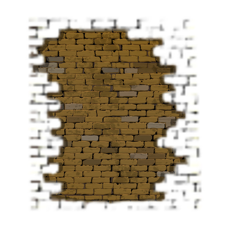 surface: Frame of a brick background with a blurred foreground and an old brick wall.
