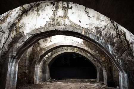 古い地下トンネル 写真素材