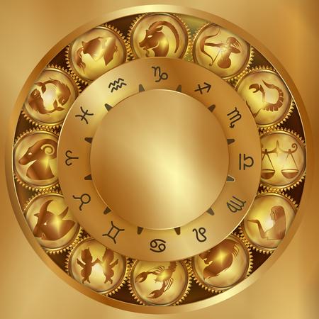 zodiac signs on gears