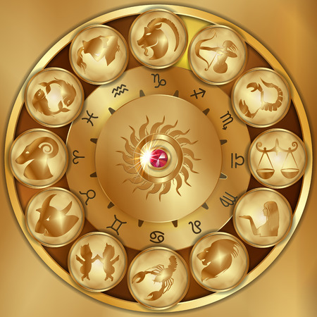 Disks of the zodiac signs