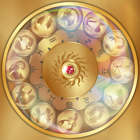divination: Disks of the zodiac signs