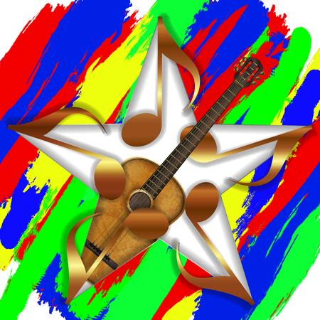 Musical Star and Guitar