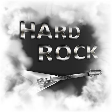 Hard rock in the smoke Vector illustration.