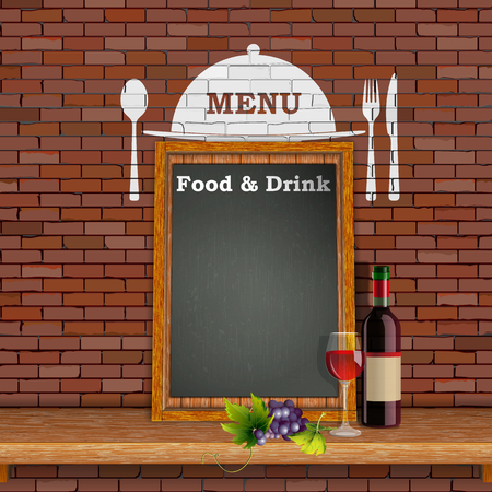 Restaurant menu cover template