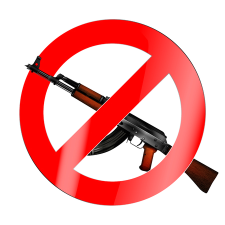 The sign of the ban, there is no war Illustration