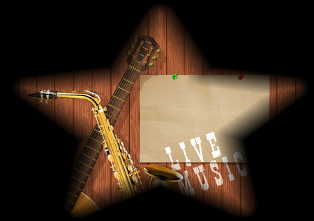 musical boards guitar sax shadow