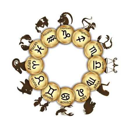 Zodiac signs medallions