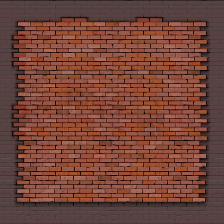 Background fragment brick wall of red brick.