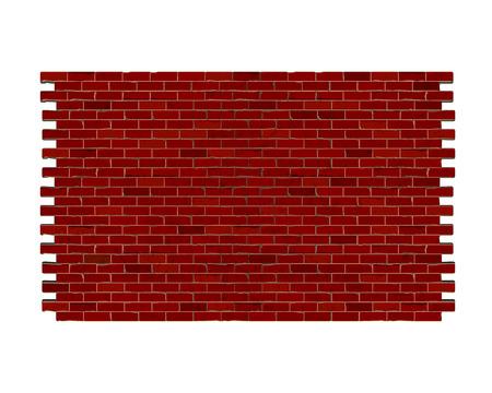 Hintergrundfragment Backsteinmauer aus rotem Backstein. Vektorgrafik