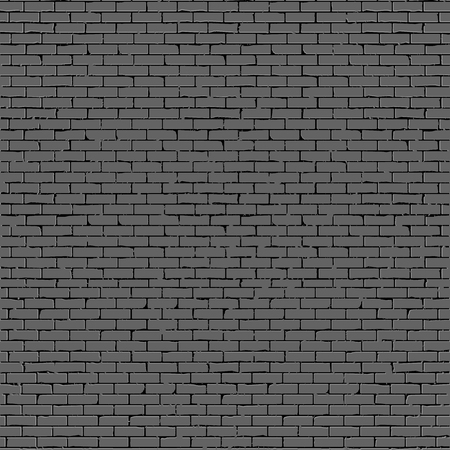 Background fragment gray brick wall realistic vector. Çizim