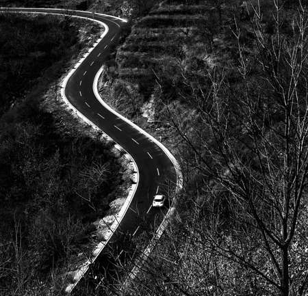 abstracted: The car on the road