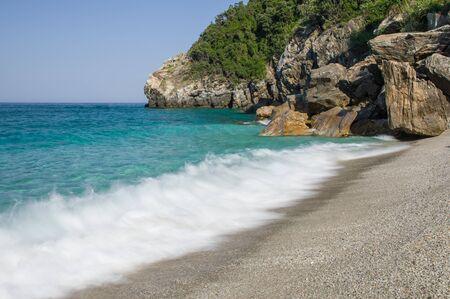 Beautiful beach of Agii Saranta in Greece