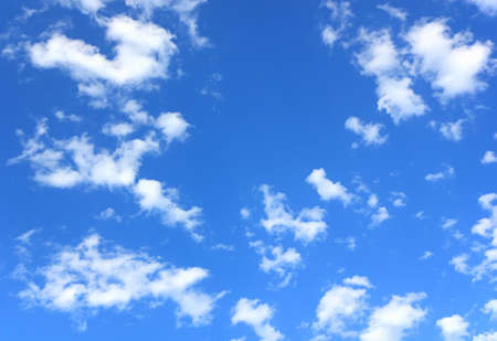 Blue sky and clouds in summer day Stock Photo