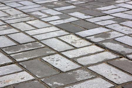 Wet Pavement after the rain. Image close-up