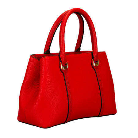 Red female bag isolated on white