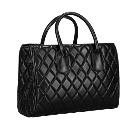 Black women bag with white background.