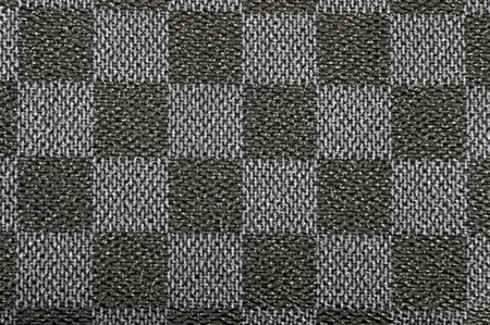 Black and gray checkered textural background for fabric or upholstery furniture
