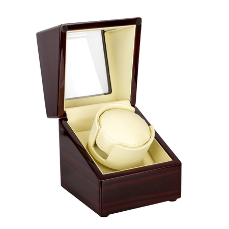 Luxury open box of wood and glass for storing watches